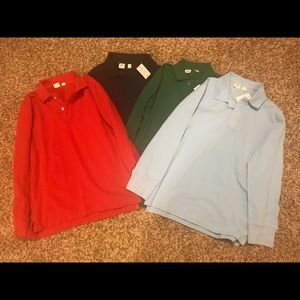 Bundle of 4 Gap Long Sleeve Polos